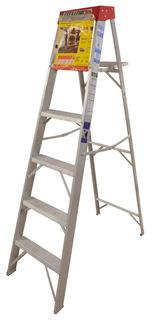 Escalera De Aluminio 5 Peldaños (90 Klgs-183cm)