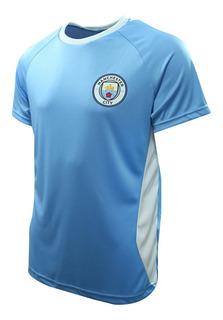 Camisa Do Manchester City Dallas Masculina Azul E Branca