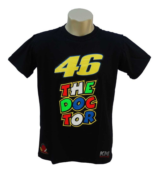 Camiseta Masculina Camisa Valentino Rossi 46 2016 The Doctor Branca Ou Preta