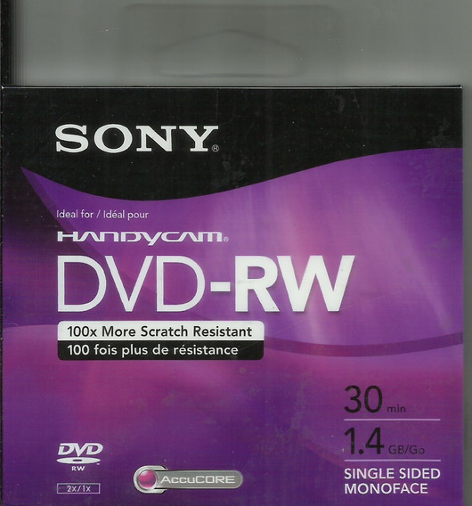 5 Mini Dvd-rw Regravável - Sony P Filmadora Digital Handycam