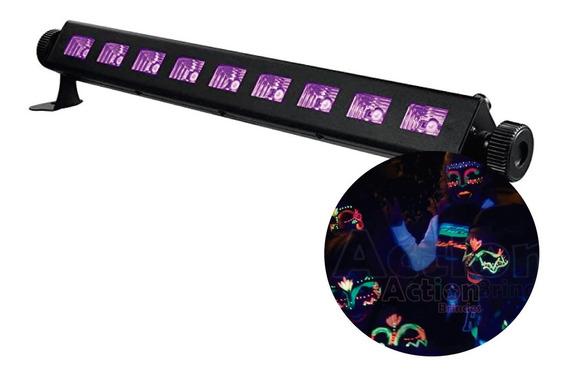Ribalta Refletor Uv Luz Negra 50cm Efeito 9 Leds Iluminação
