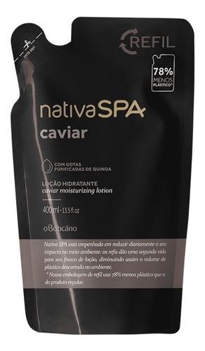 Imagem 1 de 3 de Refil Hidratante Nativa Spa Caviar 400 Ml O Boticário