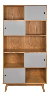 Librero Gaia Evo Madera Moderno Mueble Juguetero Gris