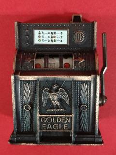 Maquina Tragamonedas Coleccion Metal Miniatura Sacapuntas