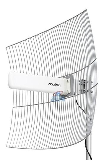 Antena Aquario Cpe 2425 2,4 Ghz 25dbi + Fonte Poe Usadas