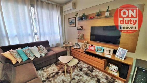 Apartamento Com 2 Dormitórios À Venda, 106 M² Por R$ 420.000,00 - José Menino - Santos/sp - Ap1610