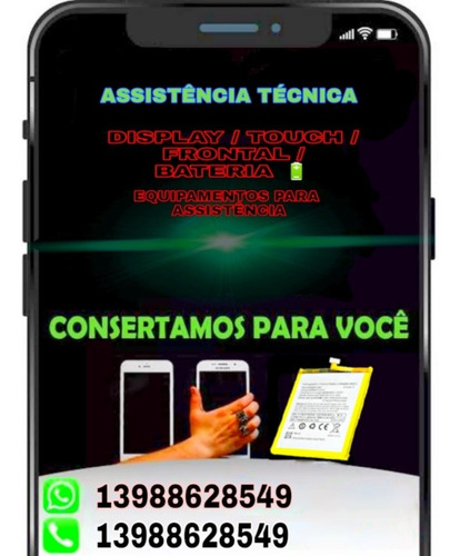 Display Touch Frontal Bateria E Equipamento Para Assistência