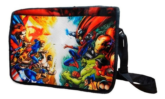 Marvel Mochila Escolar Portafolio New Avengers Iron Man Capi