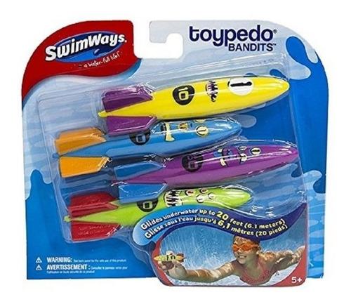 Swimways Toypedo Bandits X 4 Unid Buceo Int 88015 Original