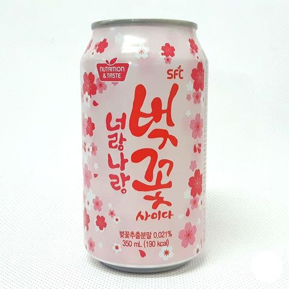 Refrigerante Coreano Sabor Sakura Flor De Cerejeira 350ml