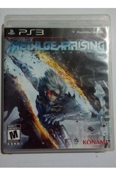 Jogo Metal Gear Rising Ps3 Playstation 3 Midia Física Usado