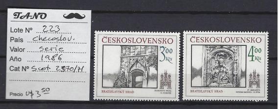 Lote223 Checoslovaquia Serie Completa Año 1986 Nuevas