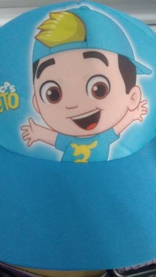 Boné Do Luccas Neto Azul Celeste Com Estampa + 1 Toalhinha De Brinde Lançamento Top!!! ***dia Das Crianças***