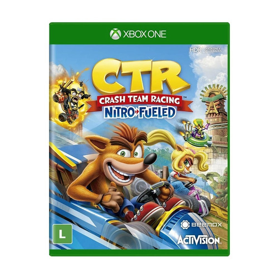 Crash Team Racing Nitro Fueled Xbox One Mídia Física Lacrado