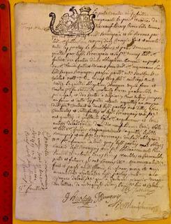 Documento Antiguo Francés? Del Año 1726 Con Sello