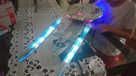 Nave Enterprise 1701-b Startrek Pintada E Iluminada Raridade