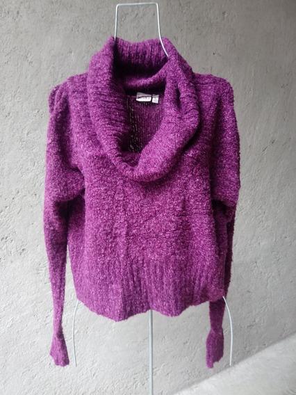 Mudd Sweater Pullover Grande Violeta Cuello Alto Tortuga