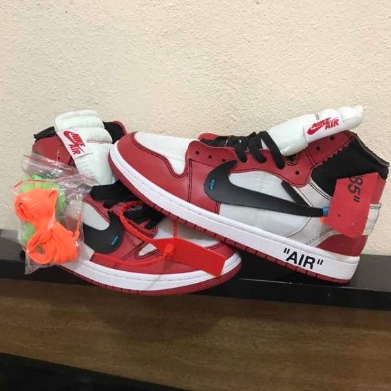 Tênis Air Jordan Vermelho 1 Off White Pronta Entrega 43