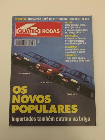 Quatro Rodas 414 - Janeiro 1995 Bmw Fiat 911 Carrera Tipo