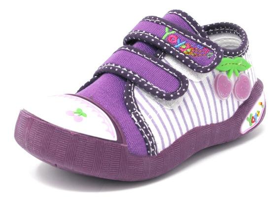 Zapatos Niñas Yoyo L1013 Púrpura 19-24. Envío Gratis