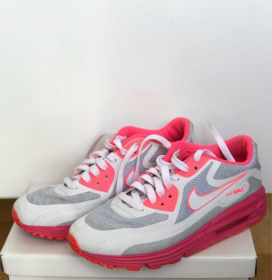 Zapatillas Nike Airmax Mujer Rosa Fluo Perfecto Estado