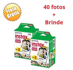 Filme Instantâneo Instax Mini Fujifilm Pack 40 Poses +brinde