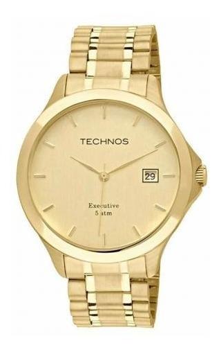 Relógio Dourado Masculino Technos Steel 1s13bwtdy/4x