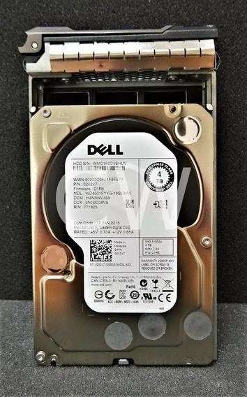 Hd Dell 0202v7 4tb 7.2k 6g 3.5 Sas Wd4001fyyg Com Gaveta