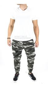 Calça Masculina Jogger Com Elástico Jeans Camuflada Especial