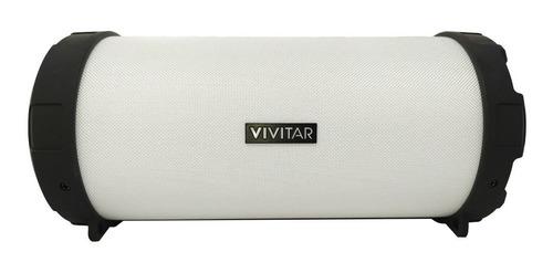 Parlante Vivitar Fabric Collection Bluetooth Tube Speaker portátil blanca