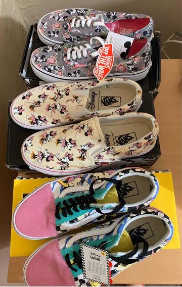Lote Vans Disney Minnie Tênis Novos Com Etiqueta 37