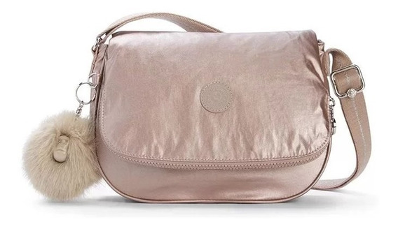 Bolsa Transversal Earthbeat S Rosa Metallic Blush Kipling