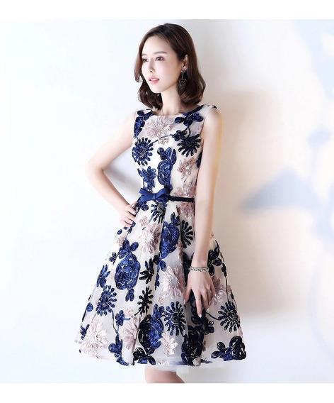 Hermoso Vestido Con Bordado Elegante