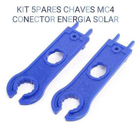 Kit 5 Chaves De Ajuste Conector Mc4 Energia Painel Solar