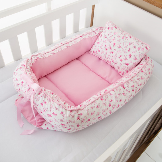 Ninho Redutor Bebê Menina Floral Rosa 2 Peças