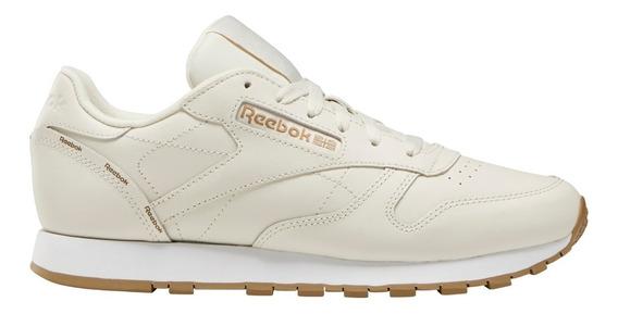 Zapatillas Reebok Classic Leather Beig De Mujer