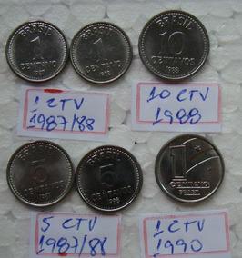 Brasil 6 Moedas Raras E Difíceis Centavinho De 1987 A 1990