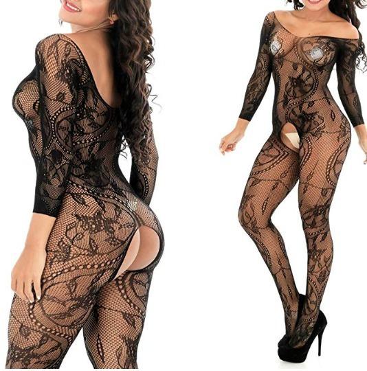 Catsuit Bodysuit Enterizo Braga Malla Lenceria Sexy Erótica