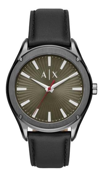 Relógio Masculino Armani Ax2806/opn 43mm Couro Preto
