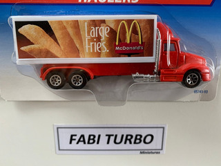 Hot Wheels Haulers Caminhão Mcdonalds Batata Frita 13,5cm
