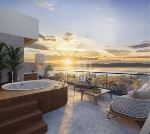 Cobertura Com 1 Dormitório À Venda, 98 M² Por R$ 605.000,00 - Piratininga - Niterói/rj - Co0422