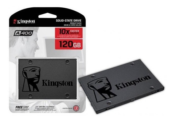 Kit Ssd Kingston 120 Gb + Caddy Exbom 9,5mm