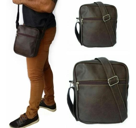 Bolsa Bag Pequena Bolsinha De Couro Masculina Feminina