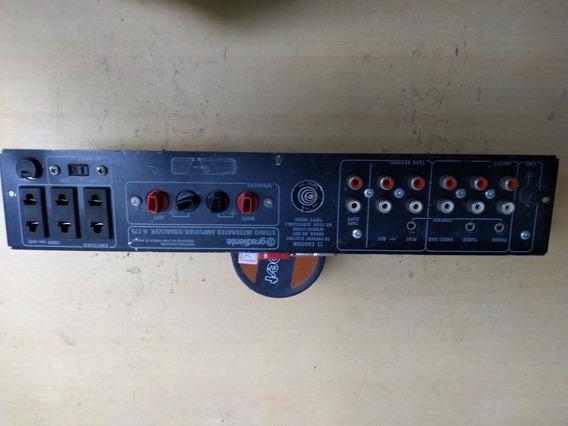 Painel Traseiro Do Amplificador Gradiente A-175 Completo