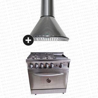 Cocina Saho Jitaku 820 Grill Acero + Campana Apsis 90 Cm - Envio Gratis