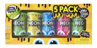 Pack 5 Masas Slime Neon / Ringastore