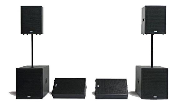 Kit Mark Audio Caixa Passiva + Monitor Passivo + Sub Grave
