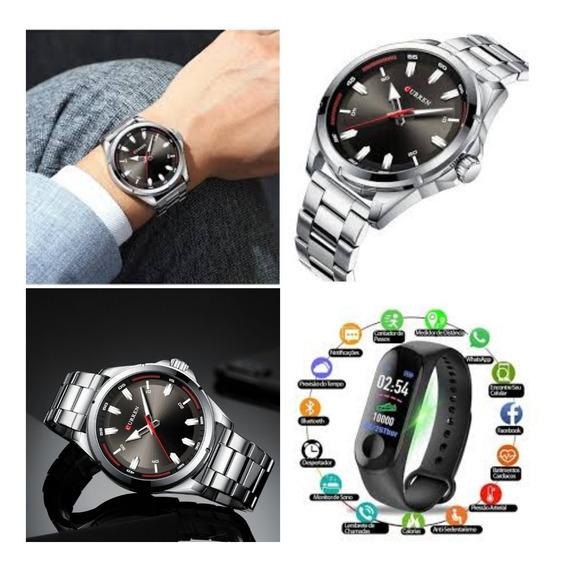 Relógio Masculino Curren 8320 De Luxo+ Smartwatch M3