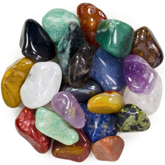 Pedras Roladas Mistas Naturais (4,5a6cm) Extra Grande - 1 Kg