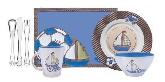 Jogo De Talheres Infantil Le Petit 7pc Inox Tramontina Azul